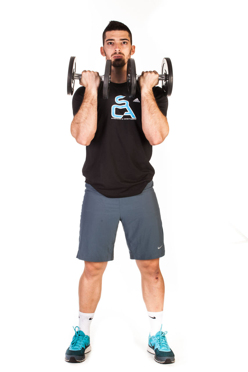 Standing Dumbbell Press with Rotation frame #1