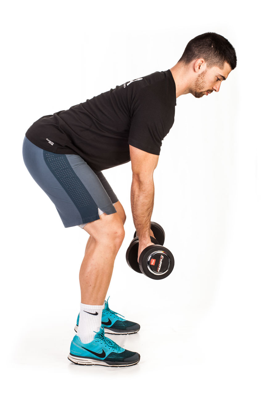 Bent Over Two-Dumbbell Row (Supinated Grip) frame #1