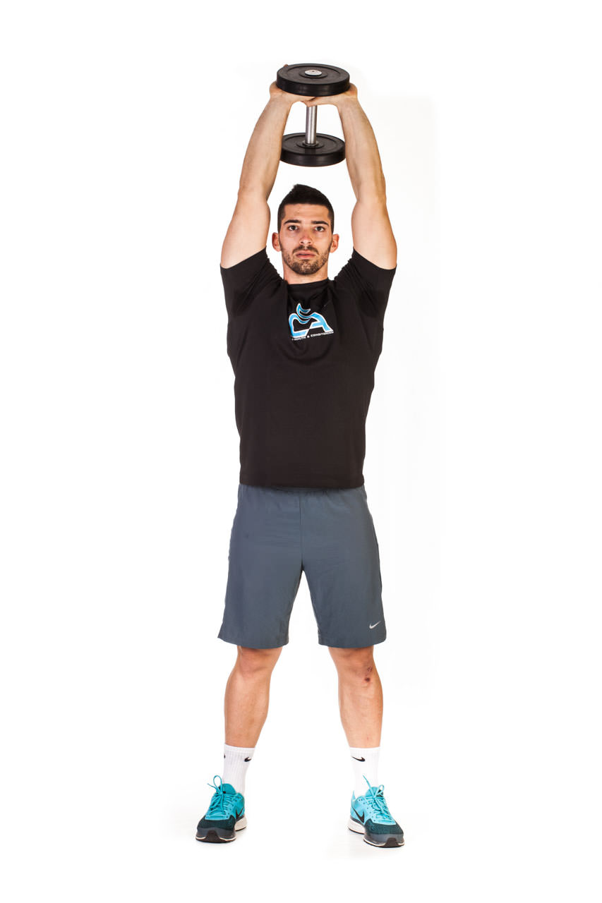 Standing Dumbbell Triceps Extension frame #3