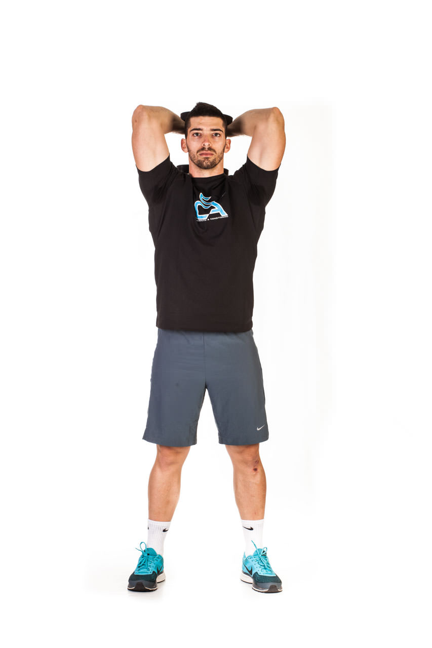 Standing Dumbbell Triceps Extension frame #2