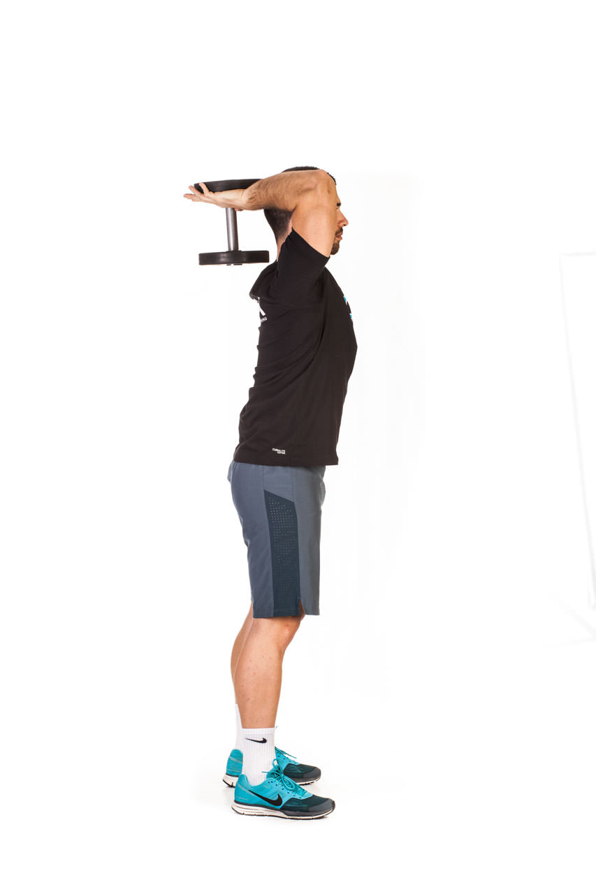 Standing Dumbbell Triceps Extension frame #5