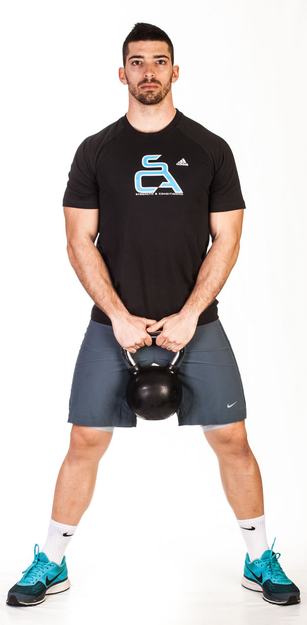 Kettlebell Wide Squat frame #1