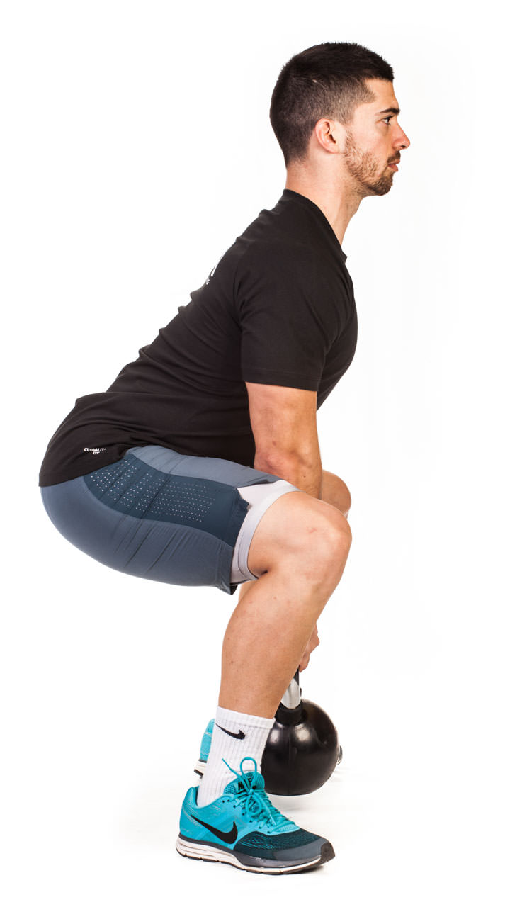 Kettlebell Wide Squat frame #5