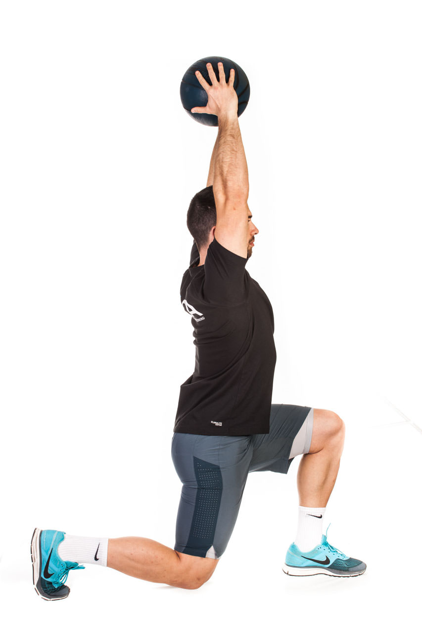 Medicine Ball Lunge to Overhead Press frame #2