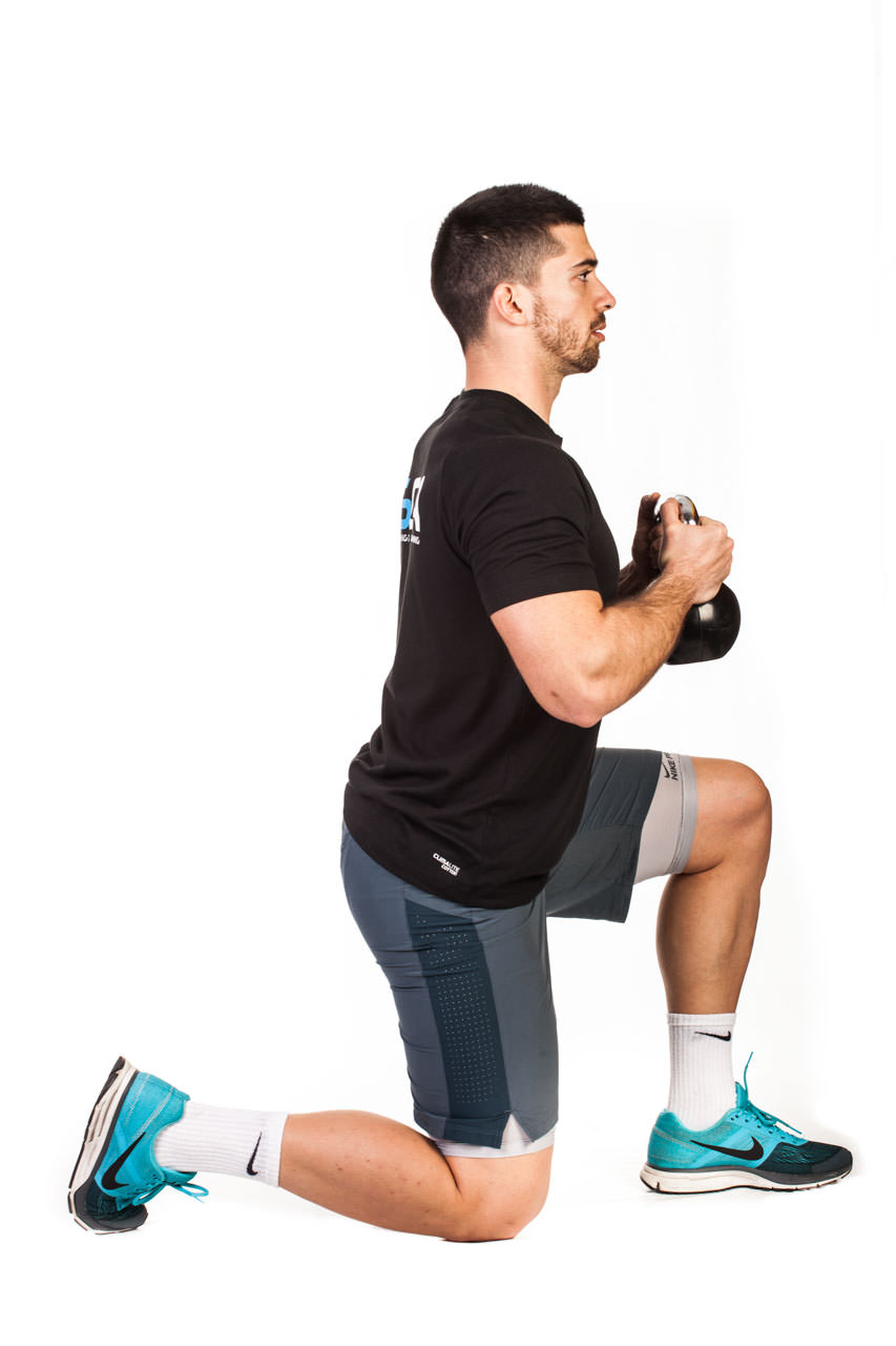 Kettlebell Kneeling to Squat frame #2