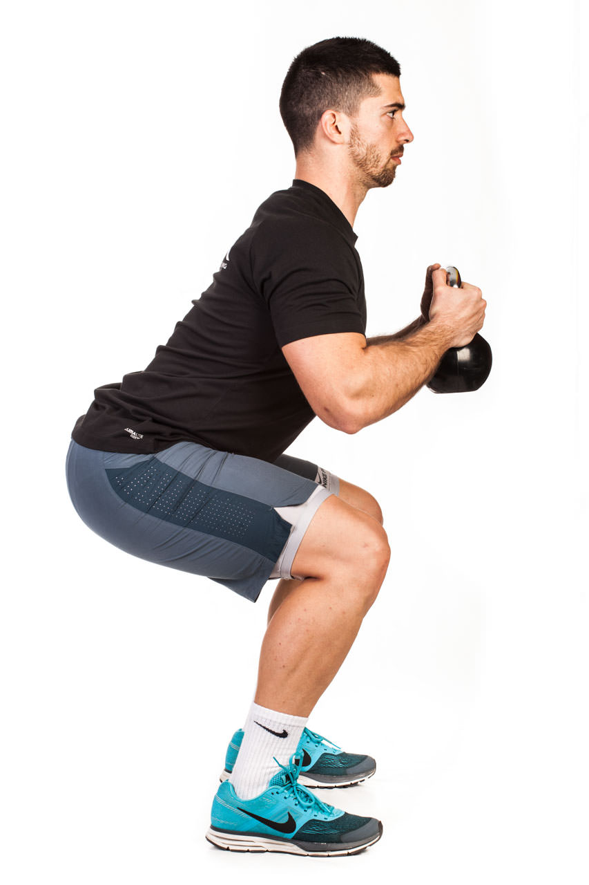 Kettlebell Kneeling to Squat frame #3