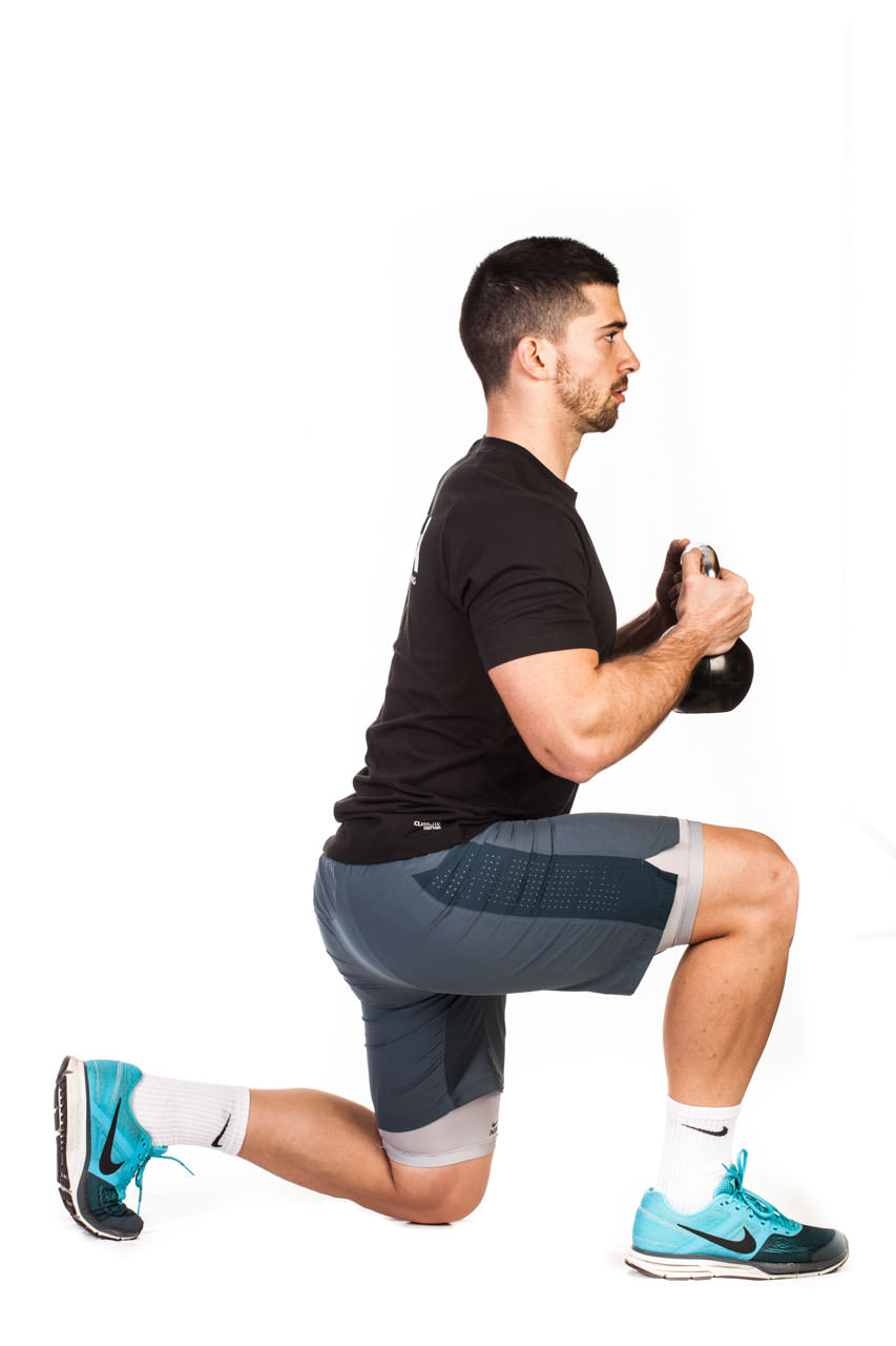 Kettlebell Kneeling to Squat frame #4