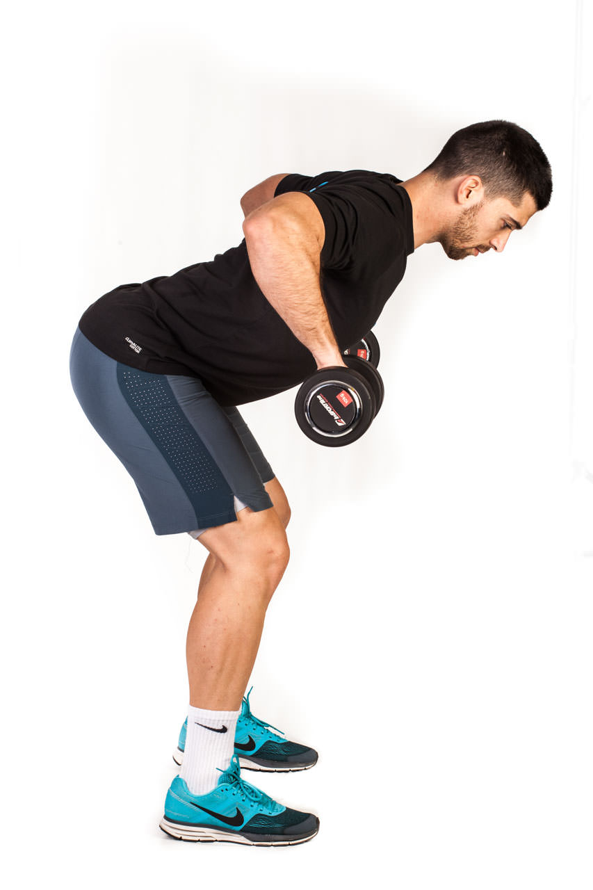 Bent Over Two-Dumbbell Row (Pronated Grip) frame #2