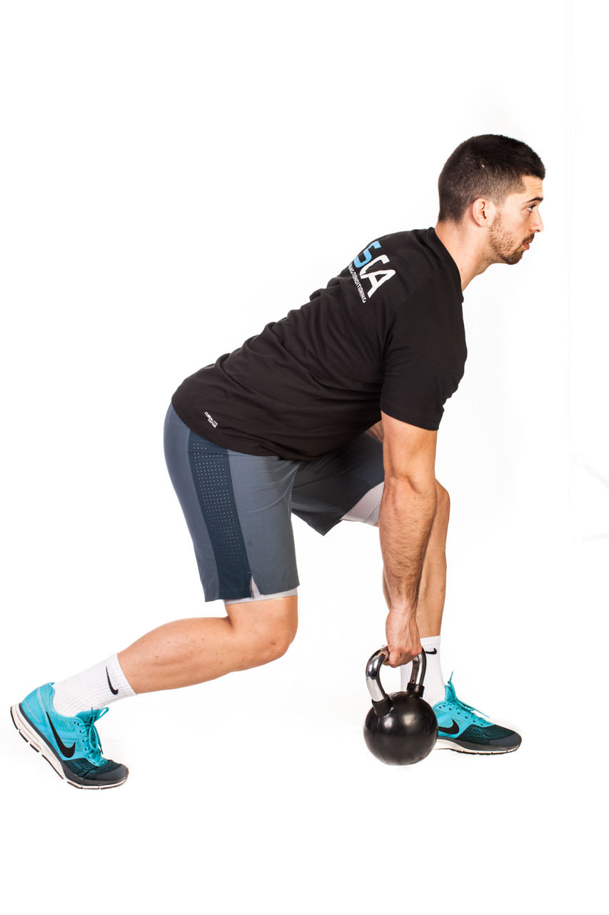 One-Arm Kettlebell Row frame #1