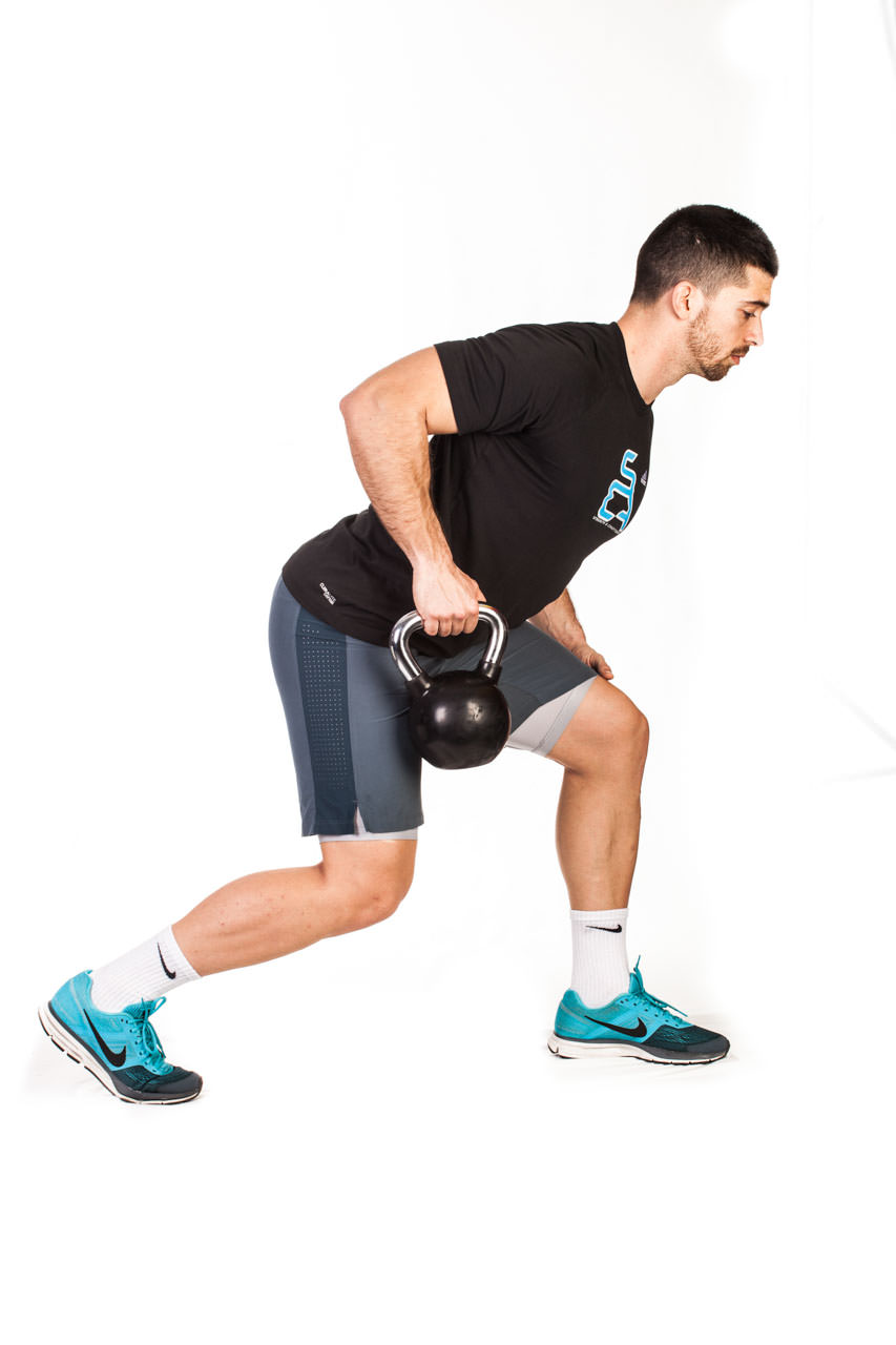 One-Arm Kettlebell Row frame #2
