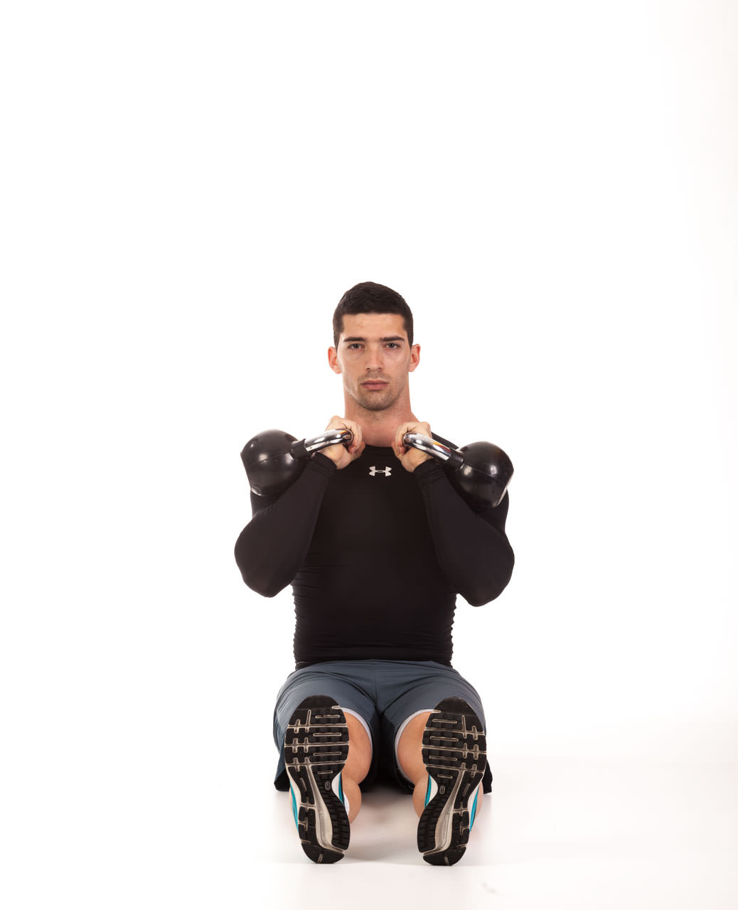 Kettlebell Seated Press frame #1