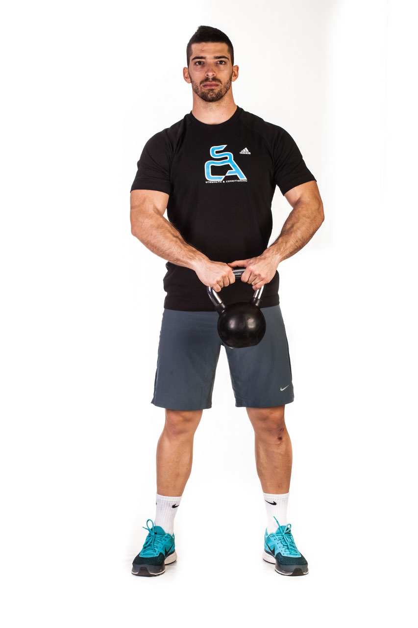 Kettlebell Around the Body Rotation frame #1