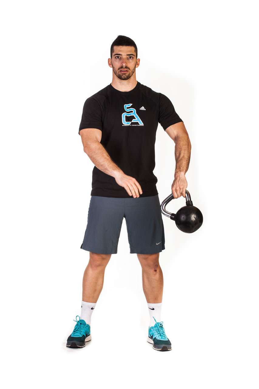 Kettlebell Around the Body Rotation frame #4