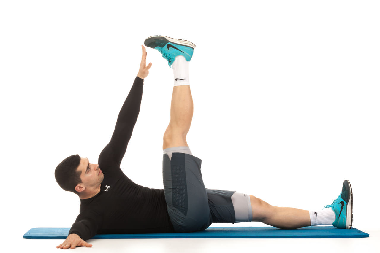 Image result for Alternating Toe Touches