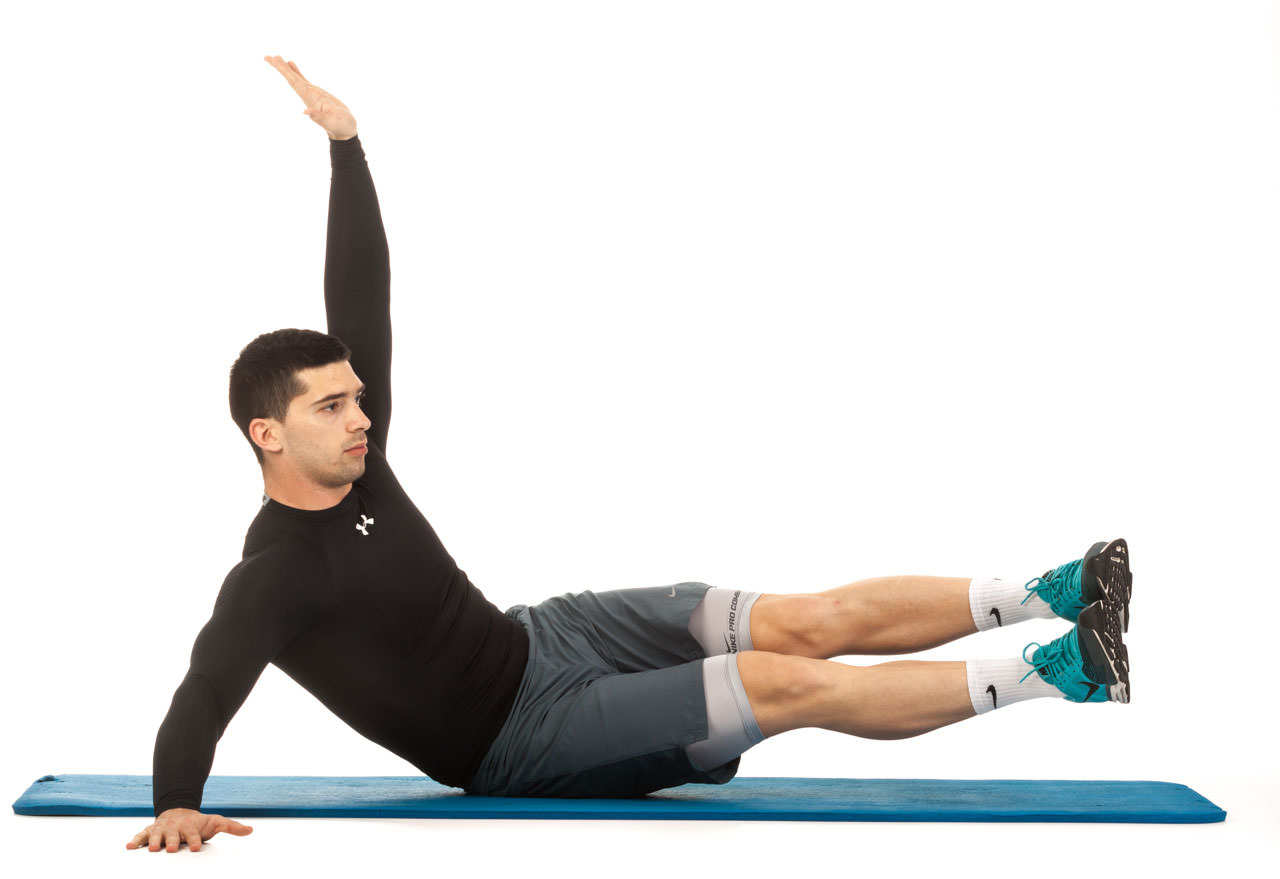 Oblique Crunches with Extended Legs frame #1