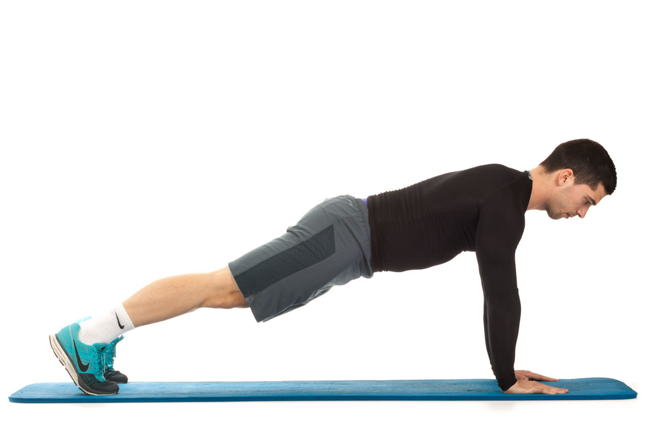 Plank with Knee Drive frame #1