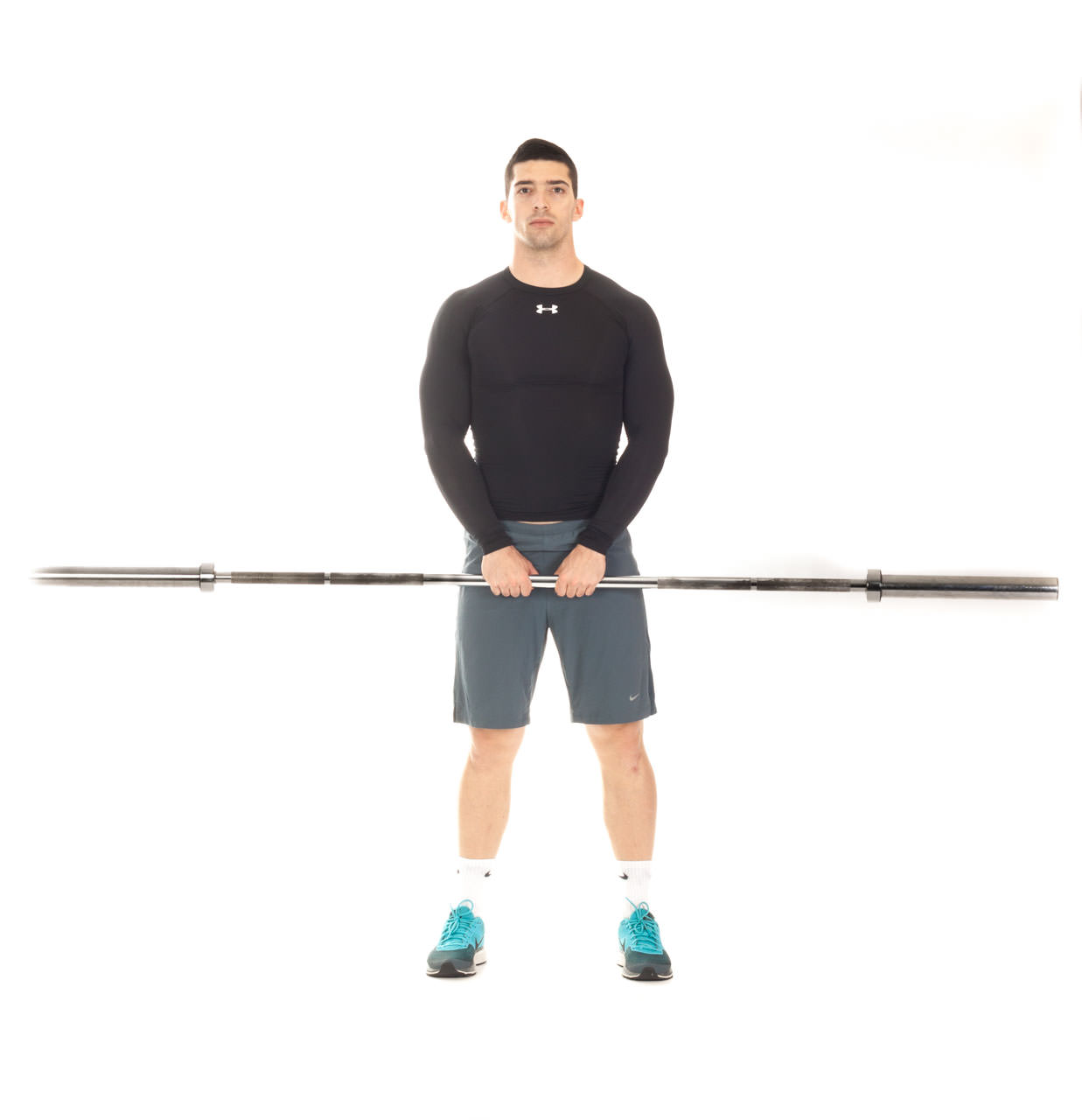 Close-Grip Upright Barbell Row frame #1