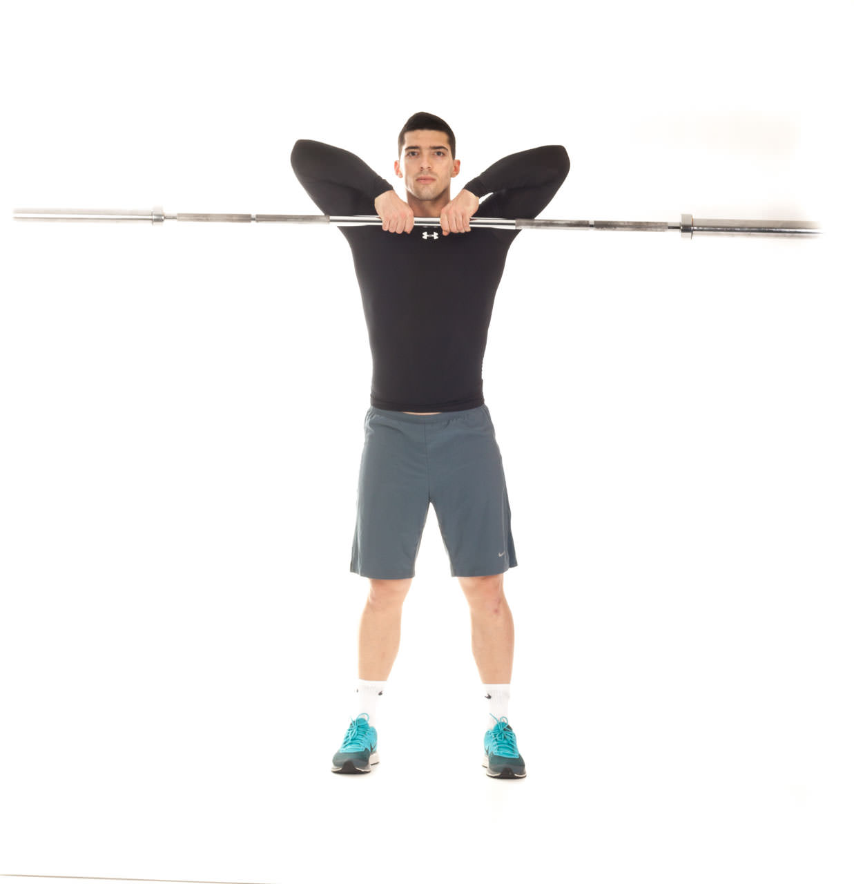 Close-Grip Upright Barbell Row frame #2