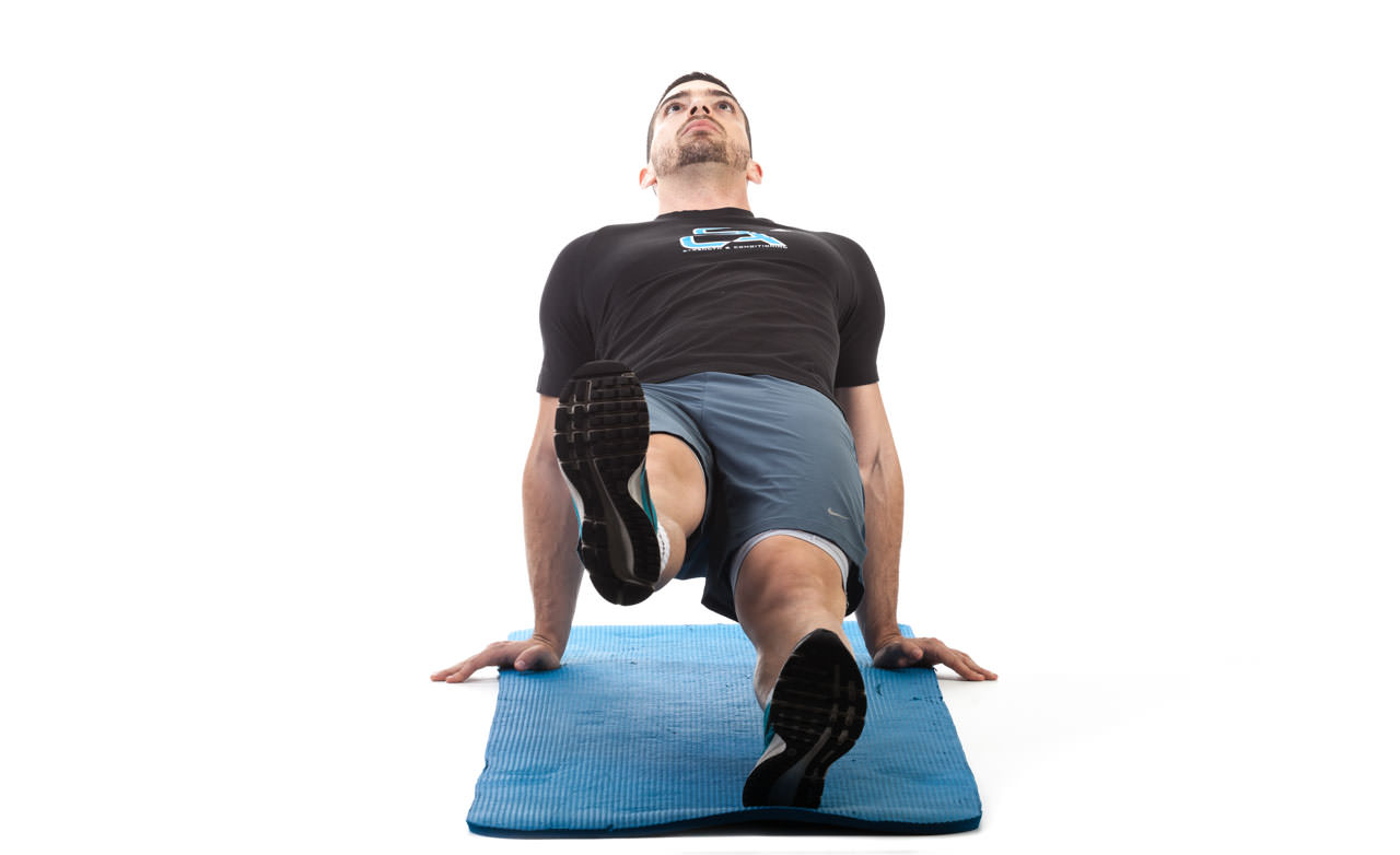 Reverse Plank with Hip Abduction frame #1