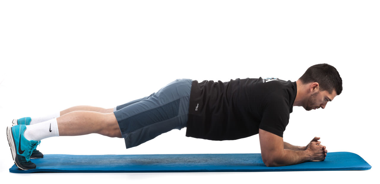 Plank with Opposite Arm and Leg Lift frame #1