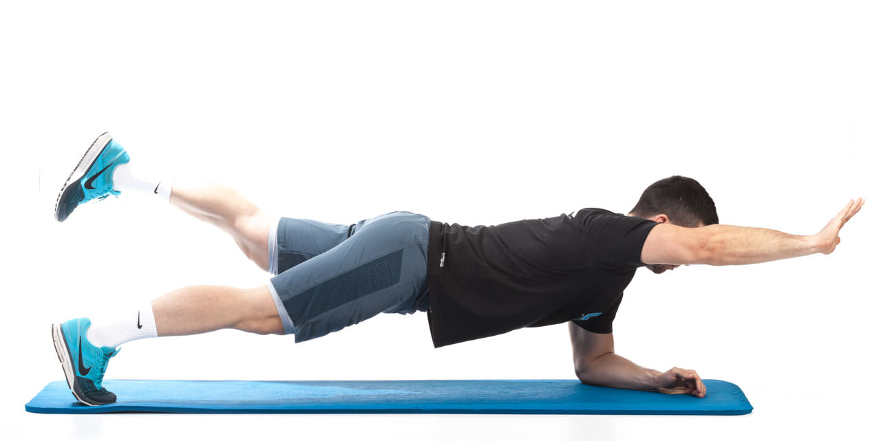 Plank with Opposite Arm and Leg Lift frame #2