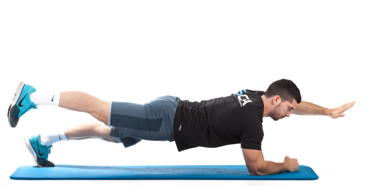Plank with Opposite Arm and Leg Lift frame #4