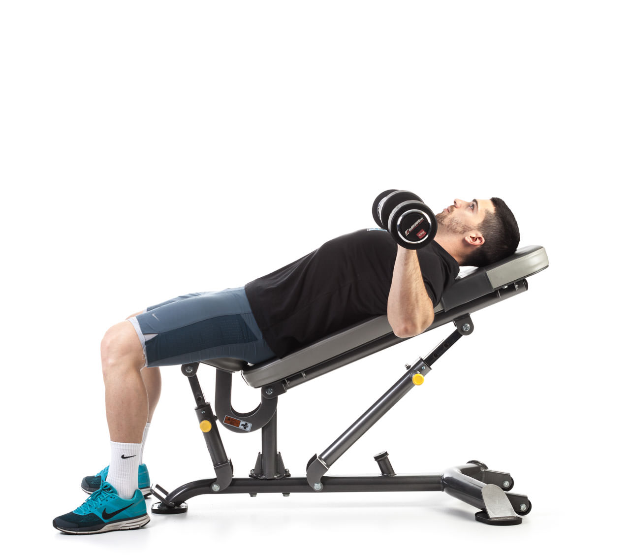 Dumbbell Incline Bench Press frame #1