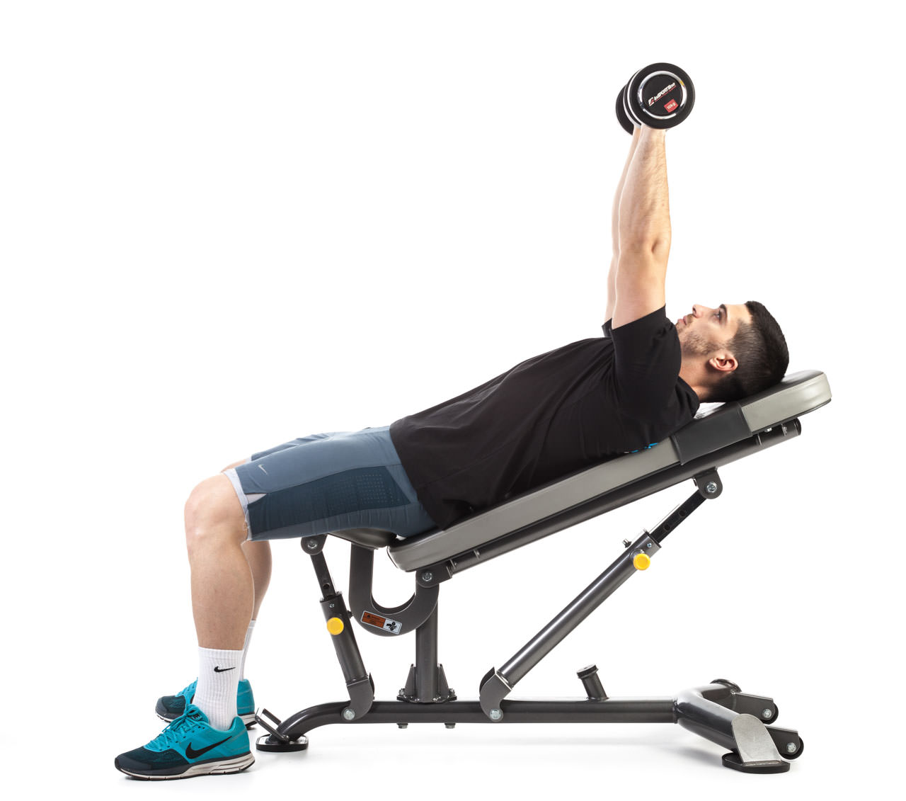 Dumbbell Incline Bench Press frame #2