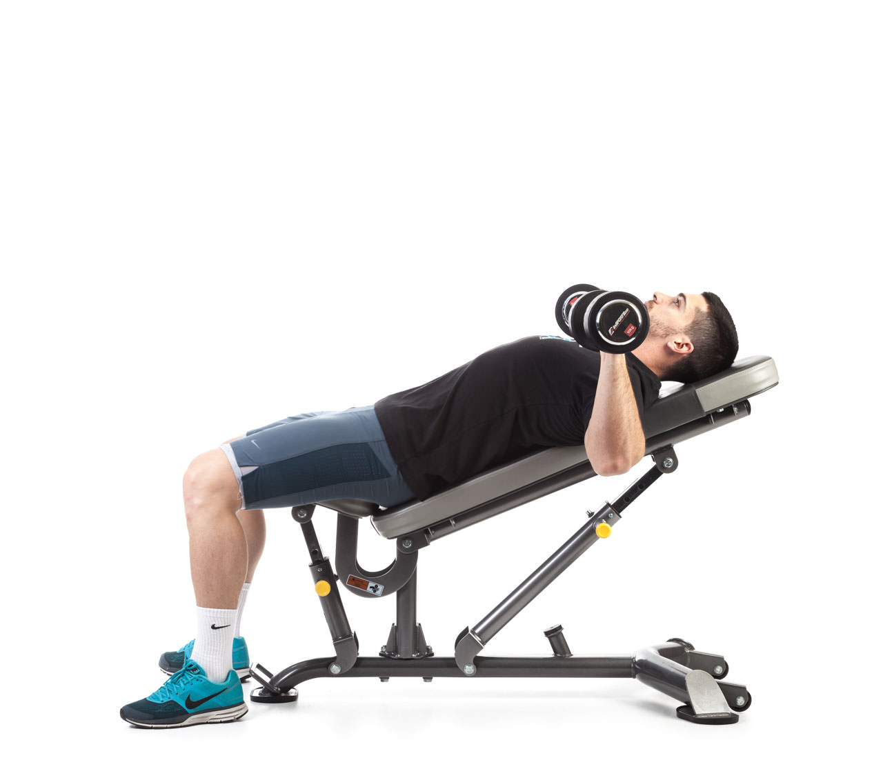 Dumbbell Incline Bench Press with Rotation frame #1