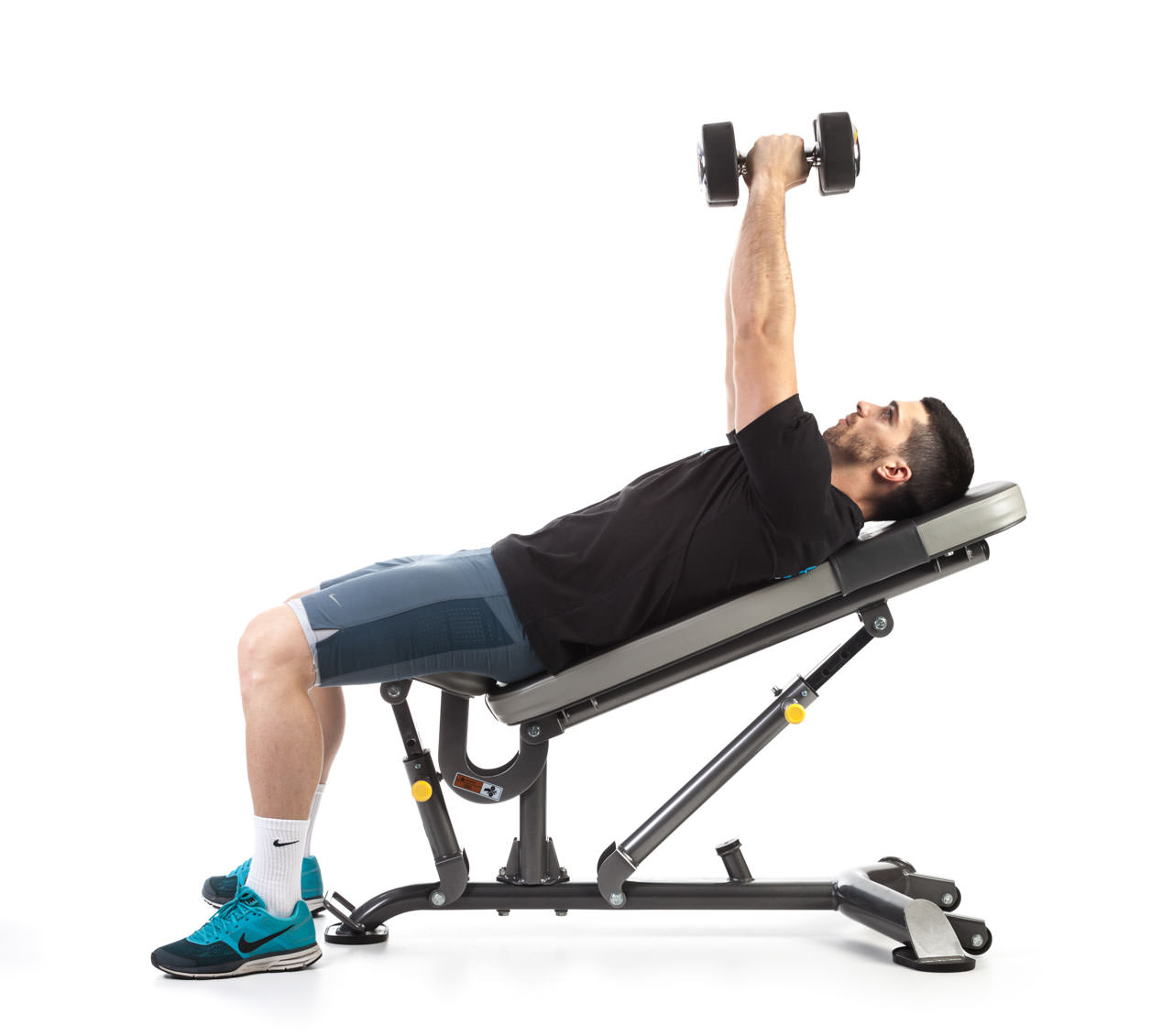 Dumbbell Incline Bench Press with Rotation frame #2