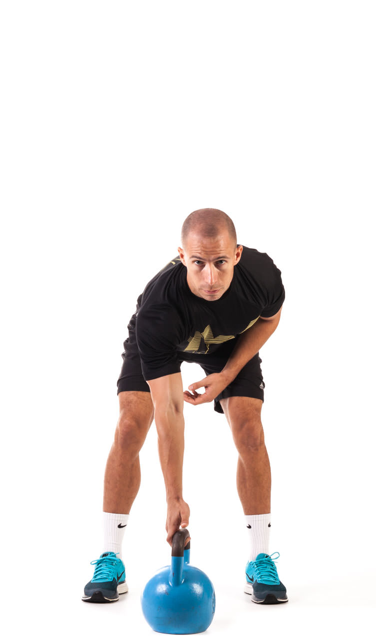 One-Arm Kettlebell Clean frame #1