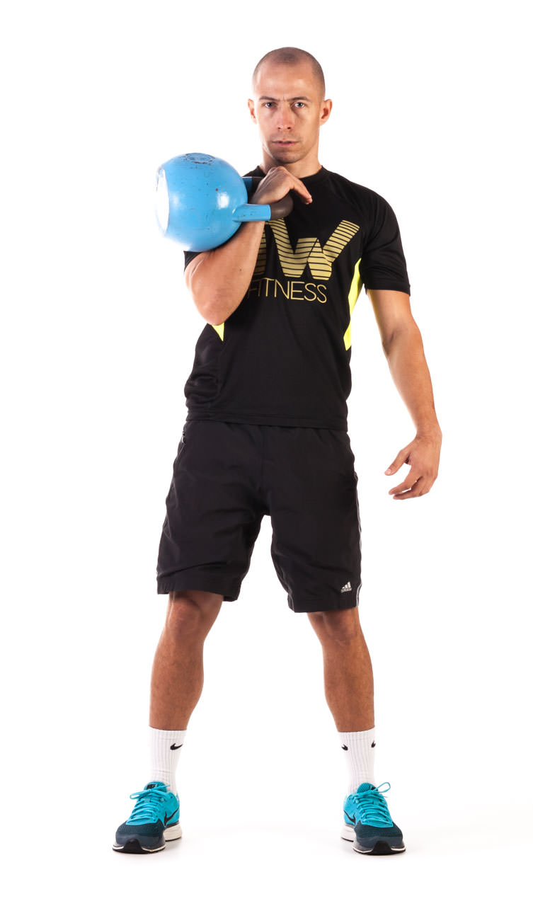 One-Arm Kettlebell Clean frame #3