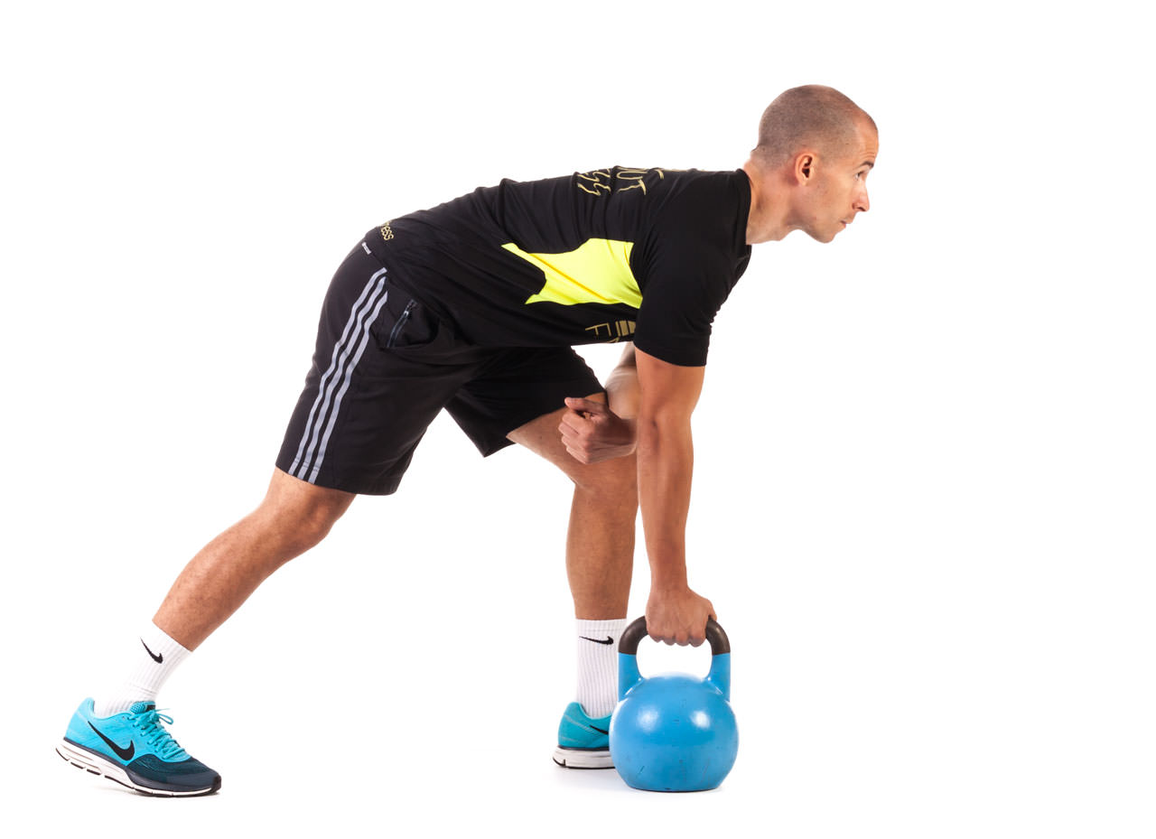 One-Arm Kettlebell Row frame #4