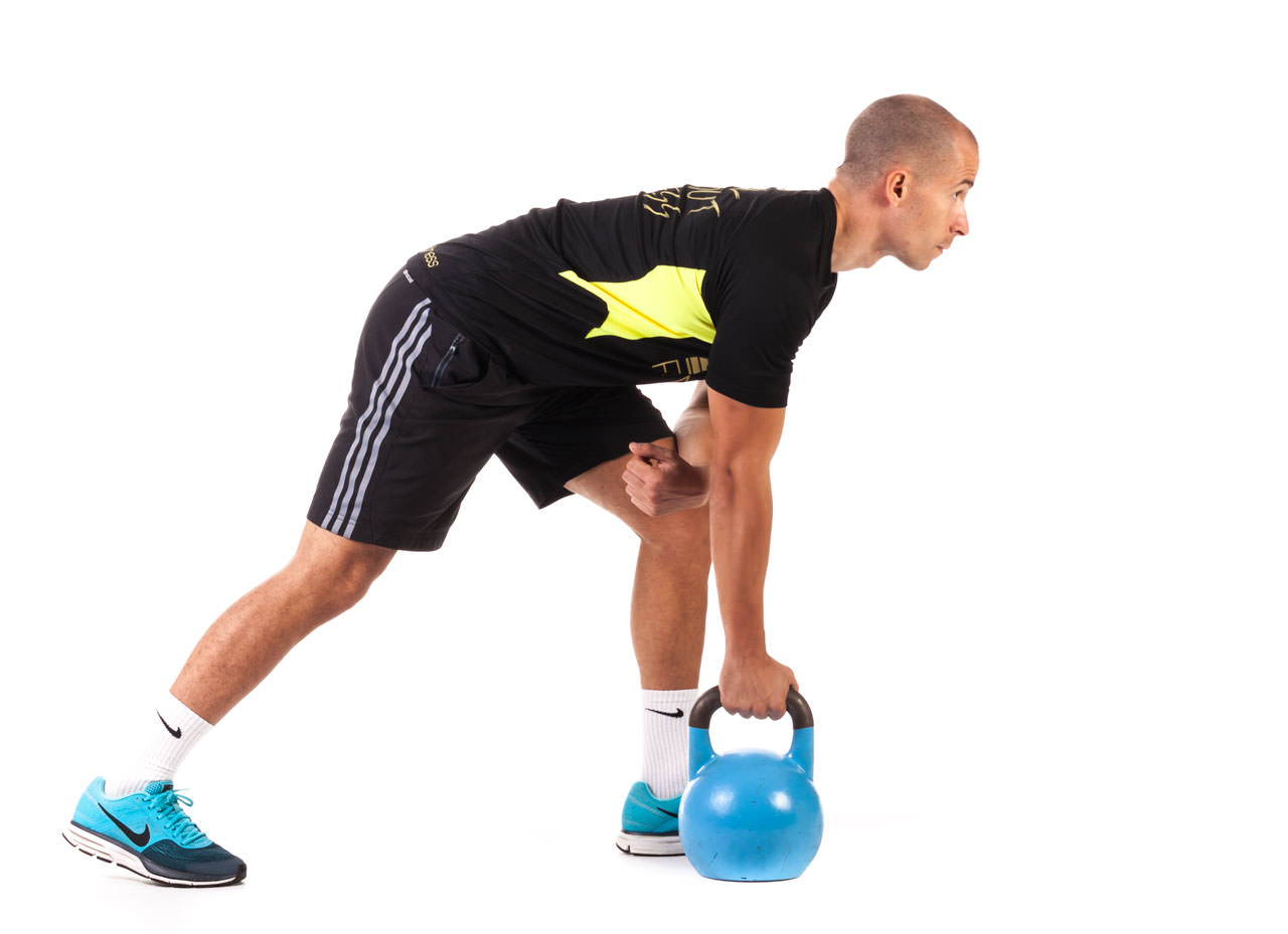 One-Arm Kettlebell Row frame #6