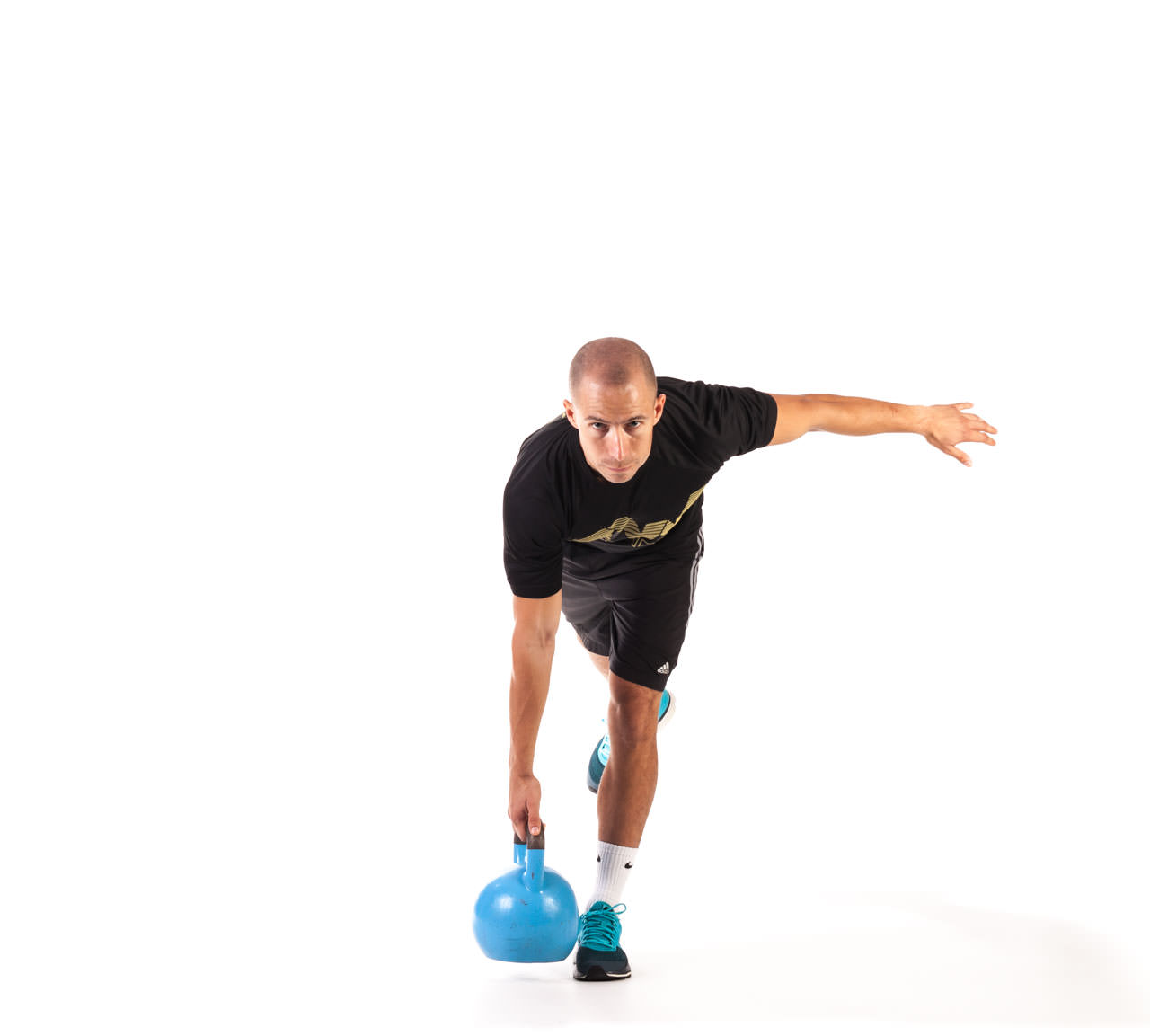 One-Leg Kettlebell Deadlift frame #2