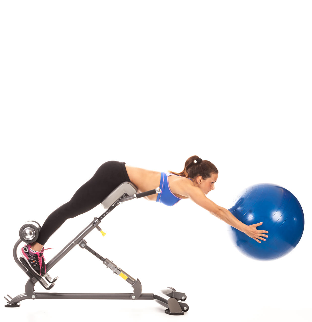 Swiss Ball Back Extension (Hyperextension Bench) frame #2