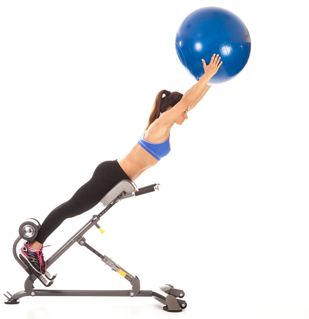 Swiss Ball Back Extension (Hyperextension Bench) frame #1