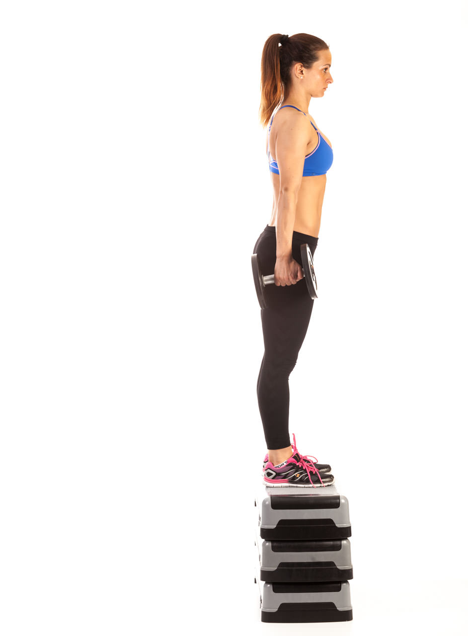 Dumbbell Step Up frame #3