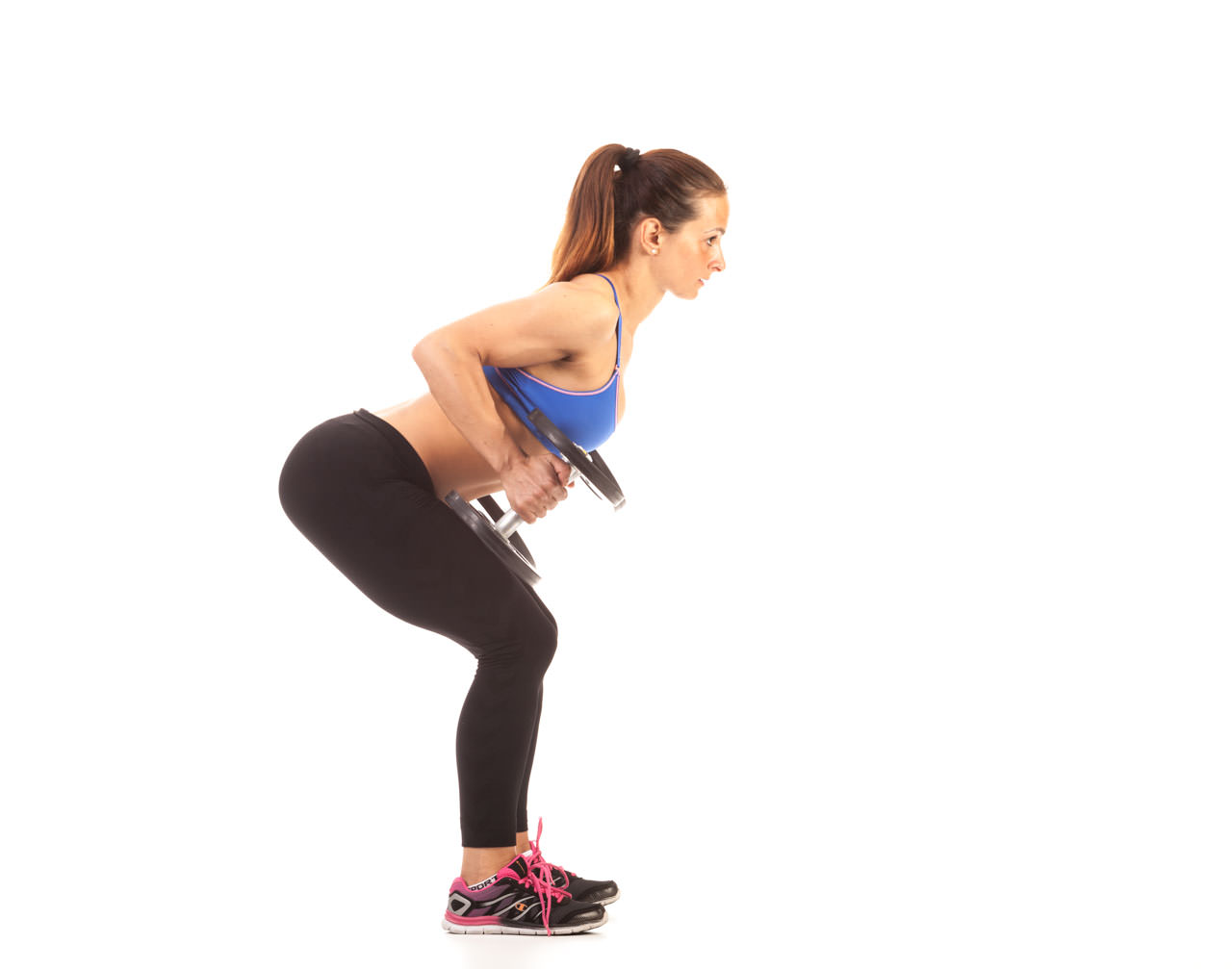 Bent Over Two-Dumbbell Row (with Rotation) frame #2