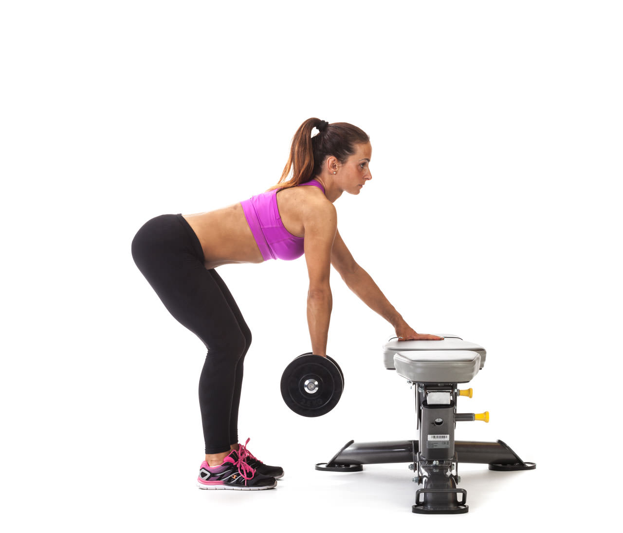 Bent Over One-Arm Dumbbell Row frame #1