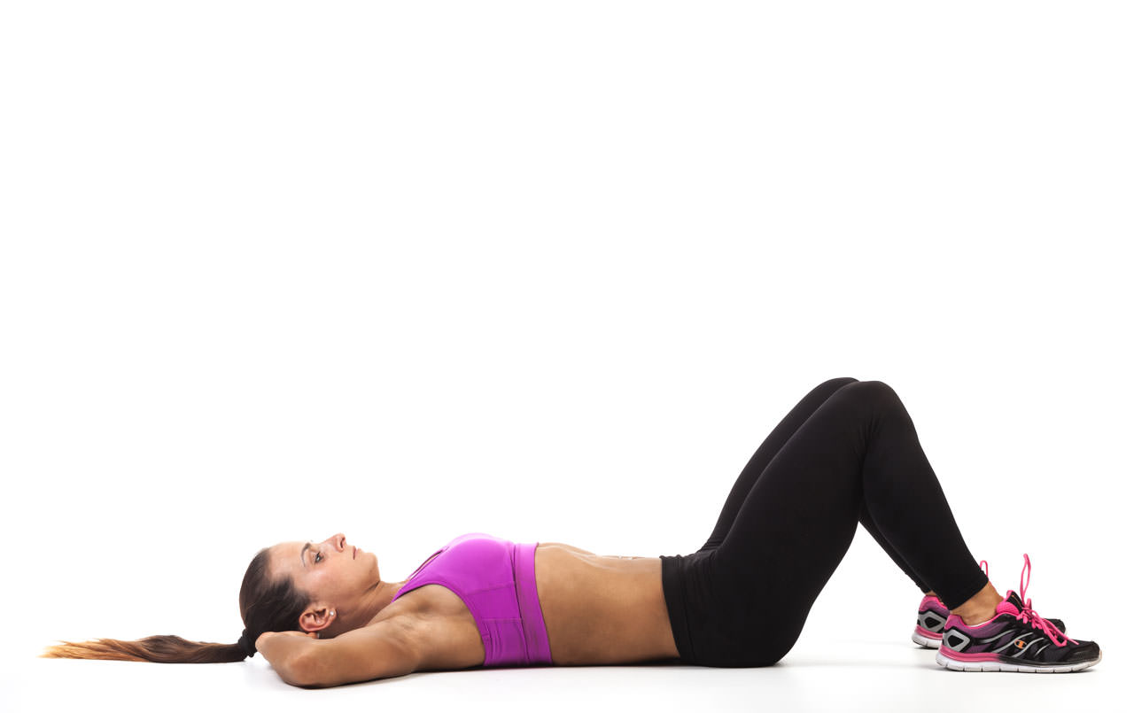 Sit-Up Elbow to Knee frame #3