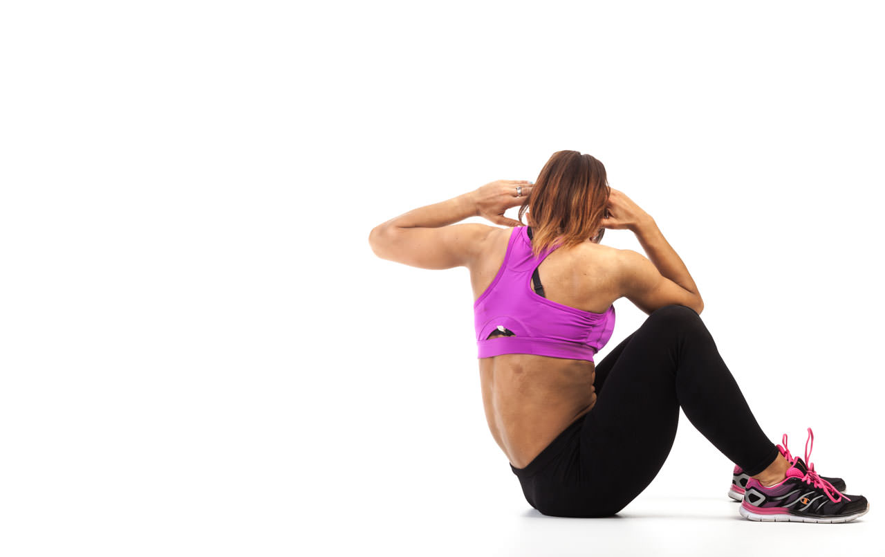 Sit-Up Elbow to Knee frame #4