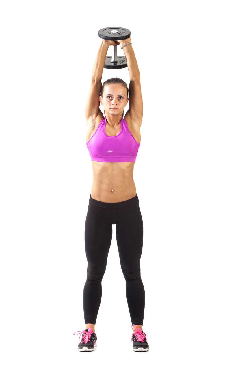 Two-Arm Dumbbell Triceps Extension frame #1