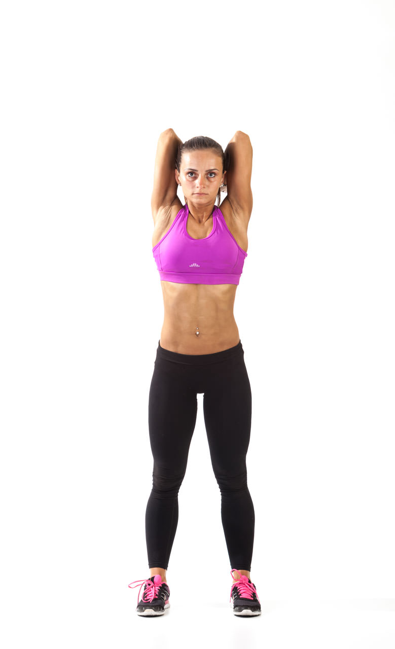 Two-Arm Dumbbell Triceps Extension frame #2