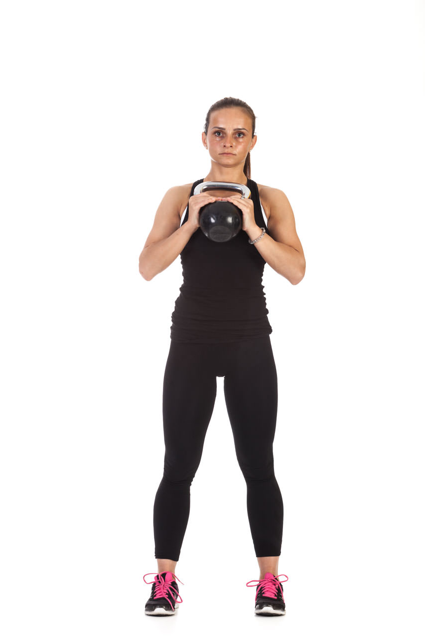 Kettlebell Lunge with Torso Rotation frame #1