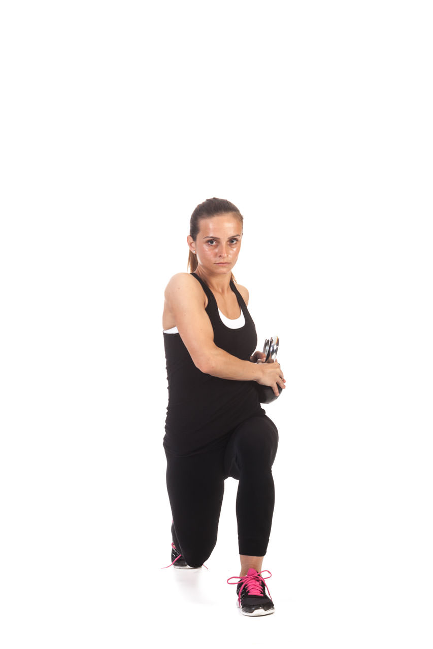 Kettlebell Lunge with Torso Rotation frame #4