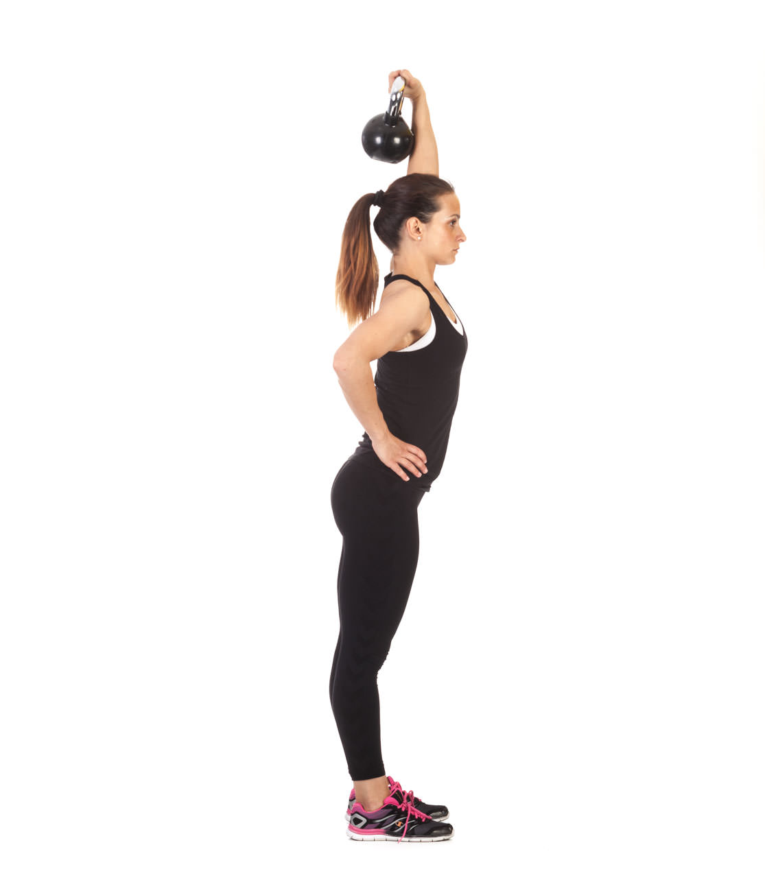 One-Arm Kettlebell Lunge frame #1