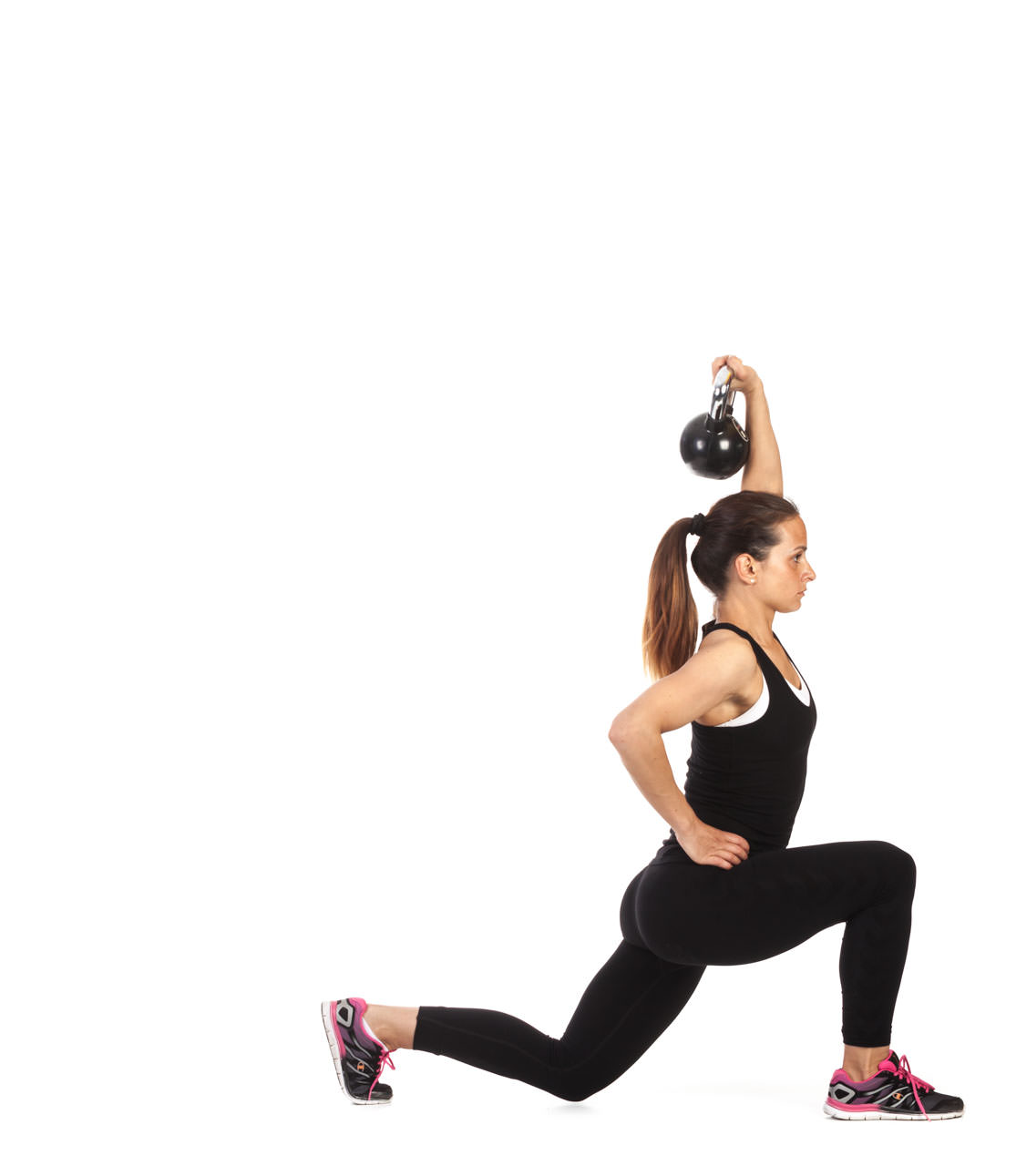 One-Arm Kettlebell Lunge frame #2