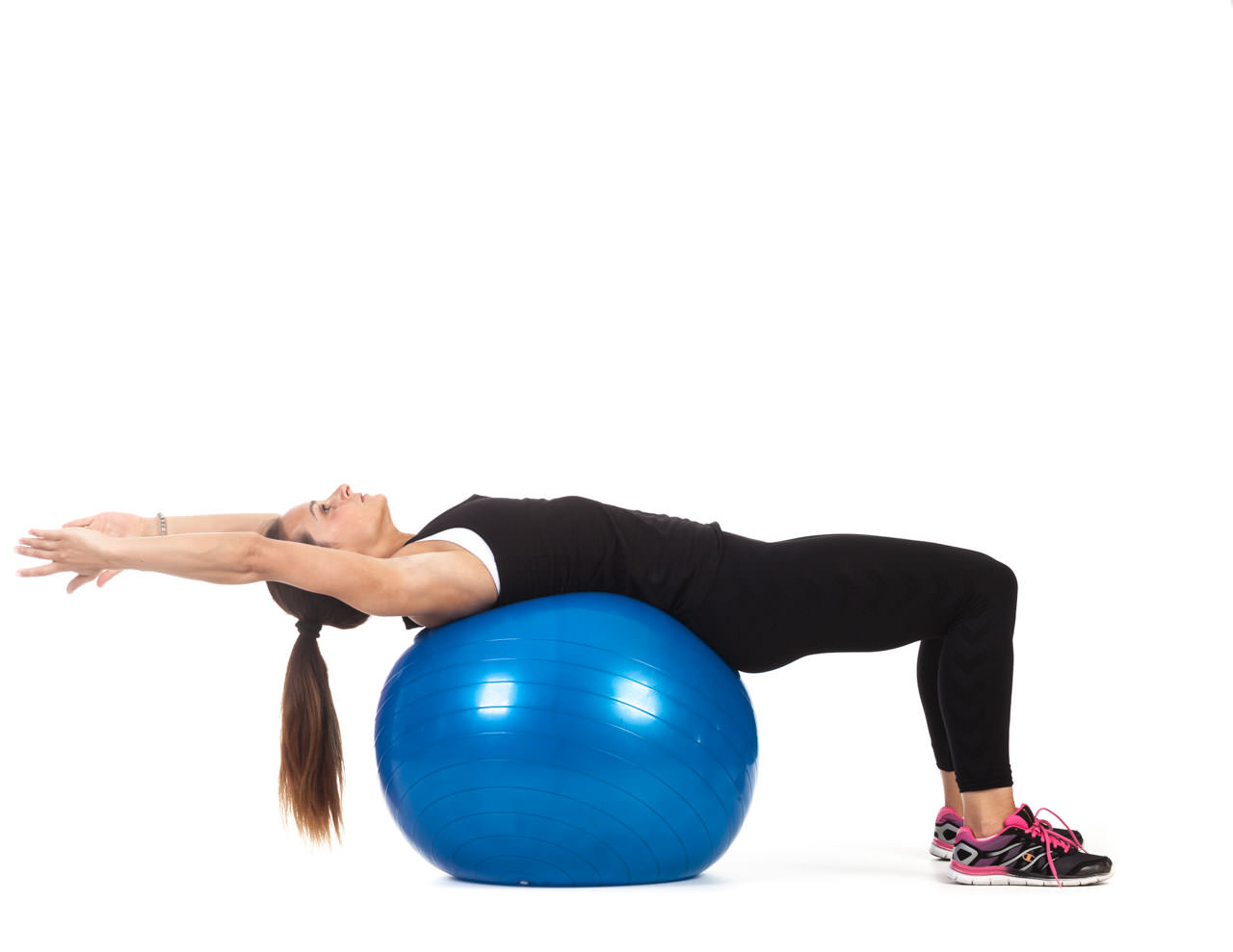 Swiss Ball V-Sit Up frame #1