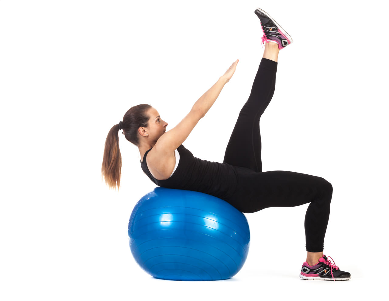 Swiss Ball V-Sit Up frame #2